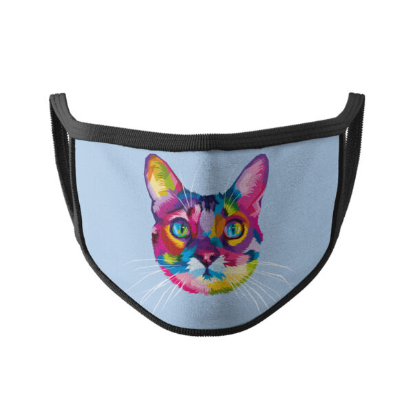 Bunte Katze 02 - Gesichtsmaske