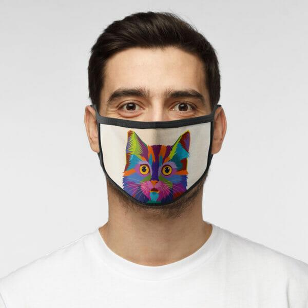 Bunte Katze - Gesichtsmaske