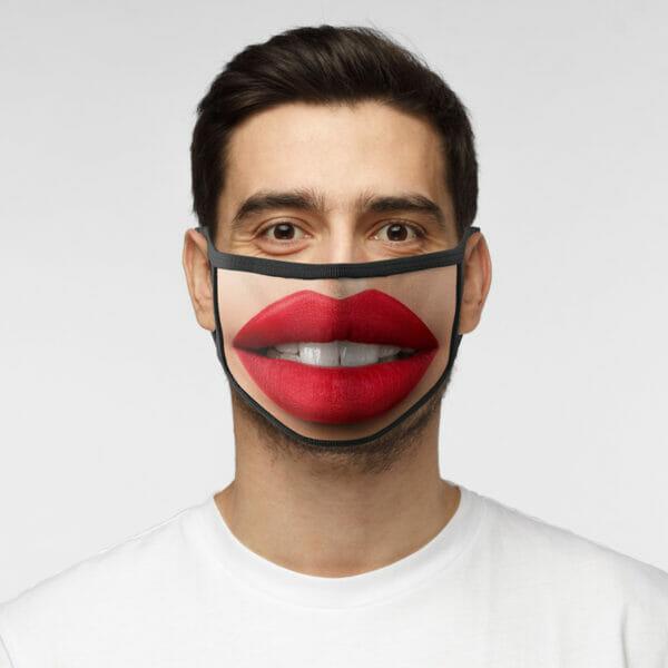 Rote Lippen - Gesichtsmaske