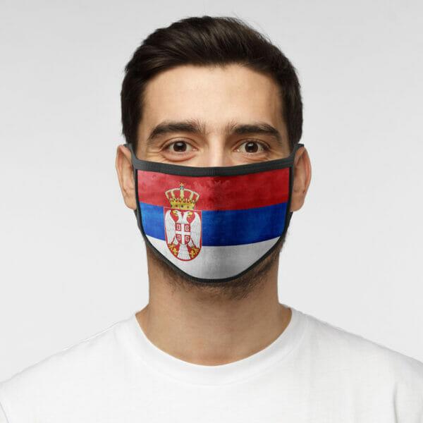 Serbien - Gesichtsmaske